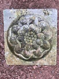 Hand carved bath stone rose stone