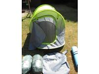 Tent camping gear Bargain 2 man Complete camping set