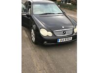 Mercedes Benz C Class Coupe PRIVATE REG WORTH good condition good drive.