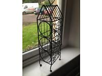 Cast Iron Wine Rack (3 bottles).