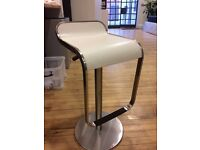 CAIN ADJUSTABLE STOOL - OFF WHITE