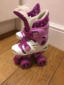 Roller boot skates - adjustable size. 10 11 12 13