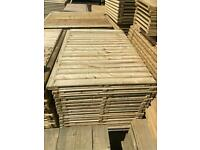 •New• Straight Top Tanalised Wooden Garden Fence Panels