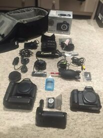 Canon 5D body & Canon Digital 60d winder, d60 body plus accessories with original BOX and BAG.