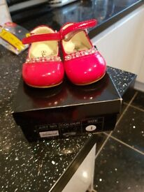 Red size 1 shoes