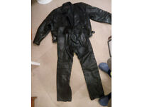 Leather motorcycle Jacket and trousers 36 inch waist