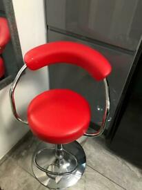 Red bar stool as new with tag (slight cut)