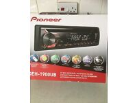 Pioneer car stereo brand new with receipt