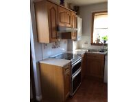 Kitchen Units, Worktop, Extractor Fan and Sink with Mixer Tap