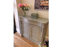 Antique Edwardian Sideboard, hand painted