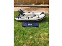 Yamaha 2.6m dinghy and 5hp outboard