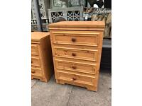 Pine Effect Chest Of Drawers