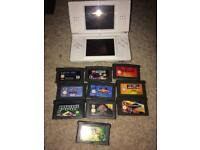 White ds lite console and gamds