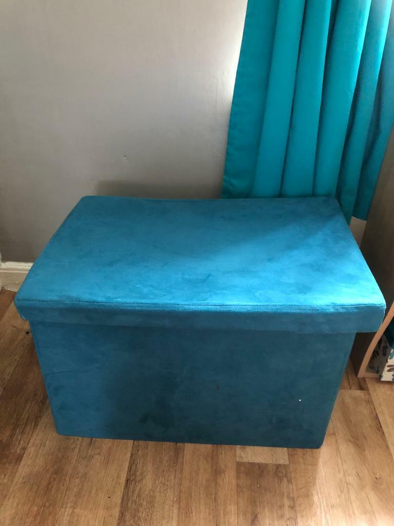 Surprising Teal Ottoman In Plymouth Devon Gumtree Lamtechconsult Wood Chair Design Ideas Lamtechconsultcom