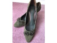 Marks and Spencers M&S Mint Green Shoes with Bow Detail Size 8