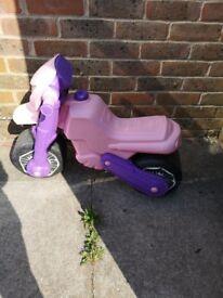 Girls pink and purple molto bike