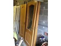 Solid Oak Internal Doors Excellent Condition