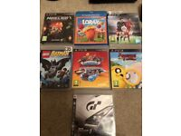 PS3 console with 7 games