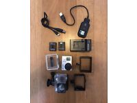 Go Pro Hero 3+ silver edition - 3 batteries + charger, underwater housing, cables and accessories