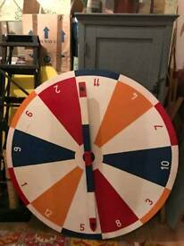 Large Fun Fair/Fete Handpainted Vintage Wheel of Fortune Spin
