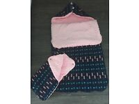 Minky Pushchair sleeping bag Footmuff + Handmuff for mammy