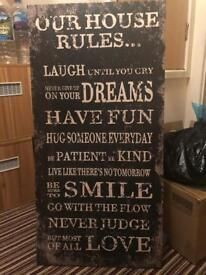 Our House Rules Canvas