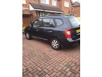 Kia Carens GS CRDI 7 seat in greay, very good condition, MOT until end Oct