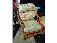 2 wicker conservatory chairs