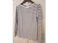 Women's FAT FACE long sleeve breton stripe top