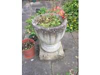 Vintage concrete planter