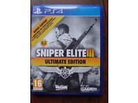 Sniper Elite 3 Ultimate Edition PS4, £12 or nearest offer