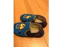 Boy next minion slipper size 13 and Clarks summer shoes size 12.5. £5 for both