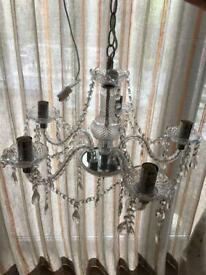Glass Marie Therese chandelier 5 arm