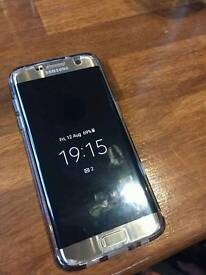 Gold samsung galaxy s7 edge. Selling for 475 or swap for iphone 6s or plus.