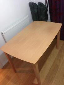 Solid beech dining table ONLY
