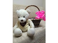 Taddy bear and basket