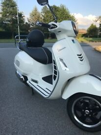 VESPA 125GTS 125 AS NEW 140 MILES ON CLOCK 40 MTHS WARRANTY LEFT FROM PAGGIAO