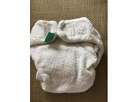 Newborn Tots Bots Bamboo Washable Nappies x10 and x4 Onelife Wraps