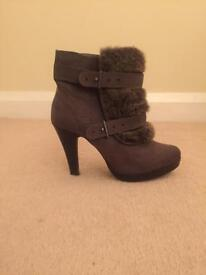 Boots grey high heels size 5 Marks & Spencer