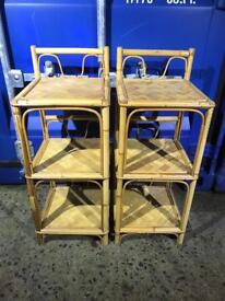 Pair wicker stands FREE DELIVERY PLYMOUTH AREA