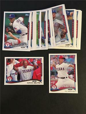 2014 Topps Texas Rangers Team Set With Update 32 Cards Texas Rangers Team Set