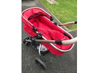 Mothercare orb in red and maxi cosi car seat