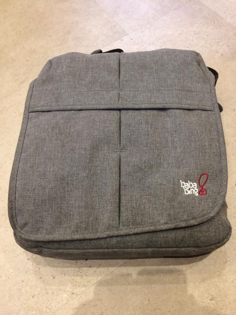 Bababing -baby changing bag -grey-Excellent condition
