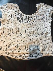 White lace top Urban Outfitters