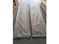 Beige Curtains (Dunelm)