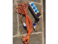 Eurohike mobile mains kit for camping plus European domestic adapter