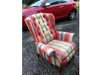 Pair of recliner armchairs