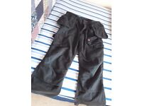 6 mens work trousers in good usual conditions blue and black size 34