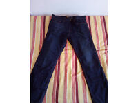 Resurgence Gear Voyager Mens Motorcycle Jeans 38 Waist 32 Leg Vintage Brown