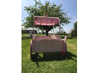 Princess carriage bed and mattress